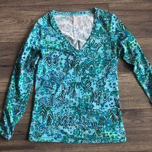 Long Sleeve XS Lilly Pulitzer Printed Tshirt